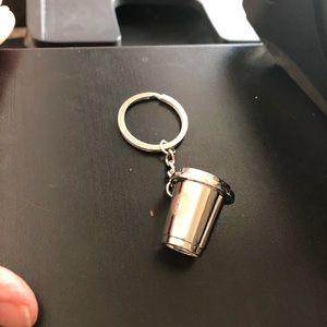 SARA/Small/Silver/Metal/Coffee/Key holder/NWT